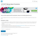 Up to $400 Cashback on Select HP Printers