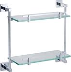 Mondella Chrome Rococo: 420mm Double Glass Shelf, 625mm Towel Rail/Shelf, Estilo Serena Towel Shelf $30ea (Was $59) @ Bunnings
