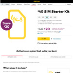 Optus $40 Pre-Paid Starter SIM Kit $20 + Free Delivery @ Optus Online