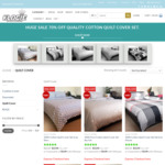 100% Solid Cotton Quilt Cover Sets (Queen Size + 2 Pillowcases) 76% off $15.95 (Was $66.50) + Shipping @ Klogie