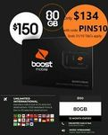 Boost Mobile $150 Prepaid SIM (12 Months, 80GB Data, Unlimited Talk & Text) - $134.10 Delivered @ Bring Brightness eBay