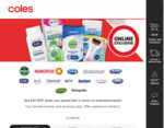 $10 off $40+ Spend on Selected Products @ Coles Online