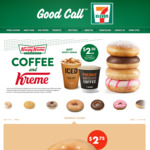 Any Krispy Kreme $2.50 with Purchase of Hot or Cold Drink @ 7-Eleven