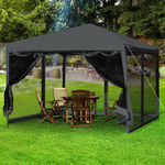 Easy Pop up Gazebo Screen House with Mesh Walls BLACK $89 + Shipping @ After7