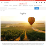 $30 off Orders over $200 @ Redballoon for PayPal Customers (Combine with 15% off Redballoon Giftcards)