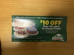 $10 off Any Full Size Cake @ The Cheesecake Shop