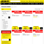 50% off Selected Anime at JB Hi-Fi (DVDs from $3.49 + Shipping) Titles Include Naruto, Death Note, and Gundam