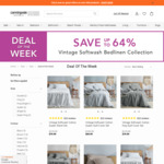 Up to 64% off Vintage Softwash Collection   Queen Quilt Cover Set - $69.99 + $9.95 Delivery ($0 with $150 Spend) @ Canningval