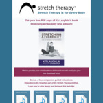 [ebook] Stretching & Flexibility 2nd edition PDF by Kit Laughlin @ Stretch Therapy