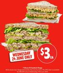 7-Eleven $3 Sandwiches from The $5 Range (Wednesday Only)