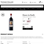 Down to Earth 2017 Cabernet Sauvignon 6x 750ml $100 + $6.95 Delivery @ Vintage Cellars