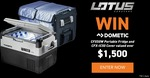 Win a Dometic CFX50W Portable Fridge & Insulated Cover Worth $1,558 from Lotus Caravans