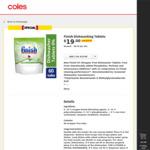 50% off Selected Finish Dishwashing Tablets: 0% 60pk $19 (31.7c/tb), Quantum Ultimate Pro Lemon 48pk $19 (39.6c/tb) @ Coles