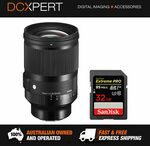 Sigma 35mm F1.2 ART with Bonus 32GB Extreme Pro Card - $1,614.15 Delivered from DCXpert eBay Store
