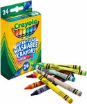 Crayola Crayon Ultra Clean Washable, 24 Bright Colours $3.95 + Delivery ($0 with Prime/ $39 Spend) @ Amazon AU