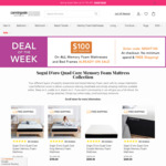 Extra $100 off All Already Discounted Memory Foam Mattresses and Bed Frames + Free Shipping @ Canningvale