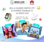 Win 1 of 6 Huawei Watch Fit & Freebuds 3i Prize Packs from Huawei