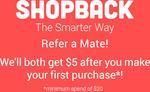 eBay AU: $5 Bonus (Min Spend $5 - Excludes Coupons) @ ShopBack via App