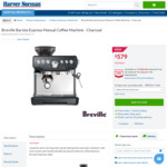 Breville BES870 Barista Express Manual Coffee Machine Charcoal $579 @ Harvey Norman