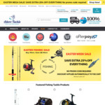 Extra 25% off All Fishing Gear Store Wide + Delivery (Free with $39 Spend) @ Adore Tackle