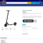 Segway Ninebot E25 Electric Scooter $599 + Delivery at ALDI (Online Order)