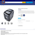 Rexel Auto+ 100X Auto Feed Shredder $149 Delivered @ ALDI (Online Only)