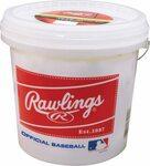 Rawlings Bucket with 2 Dozen Baseballs $51.77 (RRP $99.90) Delivered @ Amazon AU