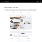 Win a $550 Sterling Silver Heart Bangle from Von Treskow