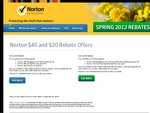 Symantec Norton $40 & $20 Cashback Spring 2012 Offers