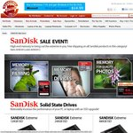 SANDISK Sale Event @ ShoppingExpress SSD (240GB for $168), USB, Memory Cards Inc. Free Shipping