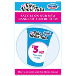 $5 off 1 Litre Take Home Tubs at Cold Rock