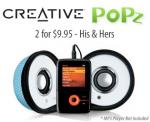 Creative Labs TravelSound Popz Twinpack 2 for $9.95!
