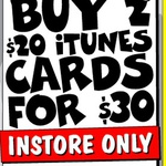 2x $20 iTunes Cards for $30 (25% off) @ JB Hi-Fi in- Store Only until Sunday