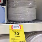 Coles Disposal Dinner Paper Plates Uncoated 80pk @ 20c a Pack. Was $2.75 - Coles Subiaco WA