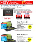 SanDisk Ultra Plus 128GB $72, 256GB $124 @ MSY Pickup or $11.18? Delivery, Starts Monday (23/06)