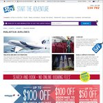 $100 off Return Aus - Europe / India Flights - Malaysia Airlines @ STA Travel