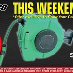 Spend $100 This Wknd @ Repco & Get 20m Auto Retractable Hose Reel for $20