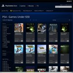 PlayStation Store Games under $30 Sleeping Dogs Definitive Edition $22.95 Alien Isolation $24.95