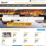 Melbourne to Hobart $35 with Tiger