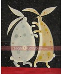 Hand Painted Oil Painting Abstract Walking Rabbits on Canvas AU $28.39 Shipped @ Highqualitybuy