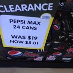 Pepsi Max 24pk Cans $5.01 @ Big W, Katoomba NSW