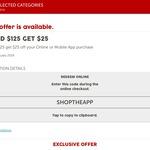 Target - $25 off $125 Spend via Online or Mobile App