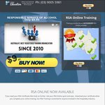 RSA Online (Responsible Service of Alcohol) Online Course $9.95 (Excludes VIC/NSW)