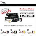 Easter Deal - Get $10 off at Rihac – Available on Rihac, CISS, Inks & Paper – Min Spend $100