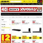 40% off Sony Soundbars at JB Hi-Fi Wicked Wednesday. HTXT100 $209.40, MHCGT3D $419.40, HTNT5 $599.40