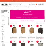 Myer 40% off Luggage