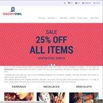 25% off @ Snowyowl.com.au Fashion Jewellery