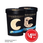 ½ Price Connoisseur Ice Cream Tubs 1L $4.84 @FoodWorks