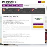 OzBargain's 10th Birthday: Double Cashback - New Woolworths Customers Spend $120 get $40 Cashback @ Cashrewards