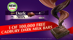 Free Cadbury 35g Dark Milk Chocolate Bar for The First 100,000 People @ Coles